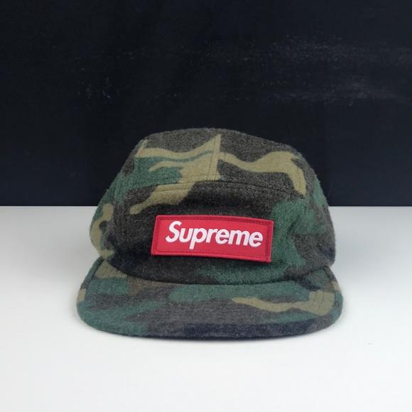 55ecb1cad26 Supreme Wool Camo Box Logo Hat